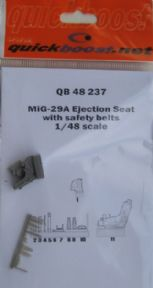 QB48237 1/48 Mikoyan MiG-29A ejection seat with safety belts (Academy + Eduard)